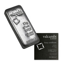 1 kg (32.15 oz) Valcambi Silver Swiss Bar SOLD OUT
