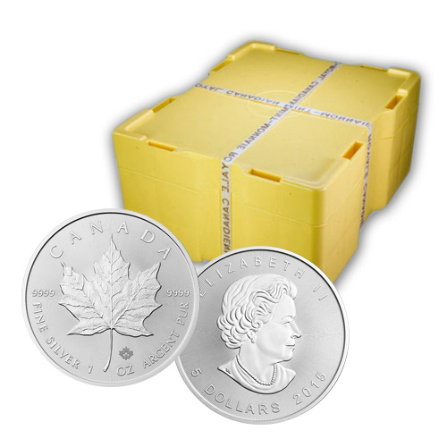 1 oz Canadian Silver Maple Leaf Monster Box