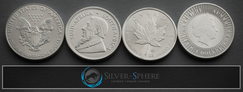 Top selling international silver bullion coins available at Silver-Sphere Trading