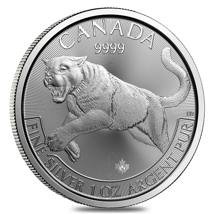 Predator Series (coin 1) – 1 oz Silver Cougar BU (2016) Sold Out