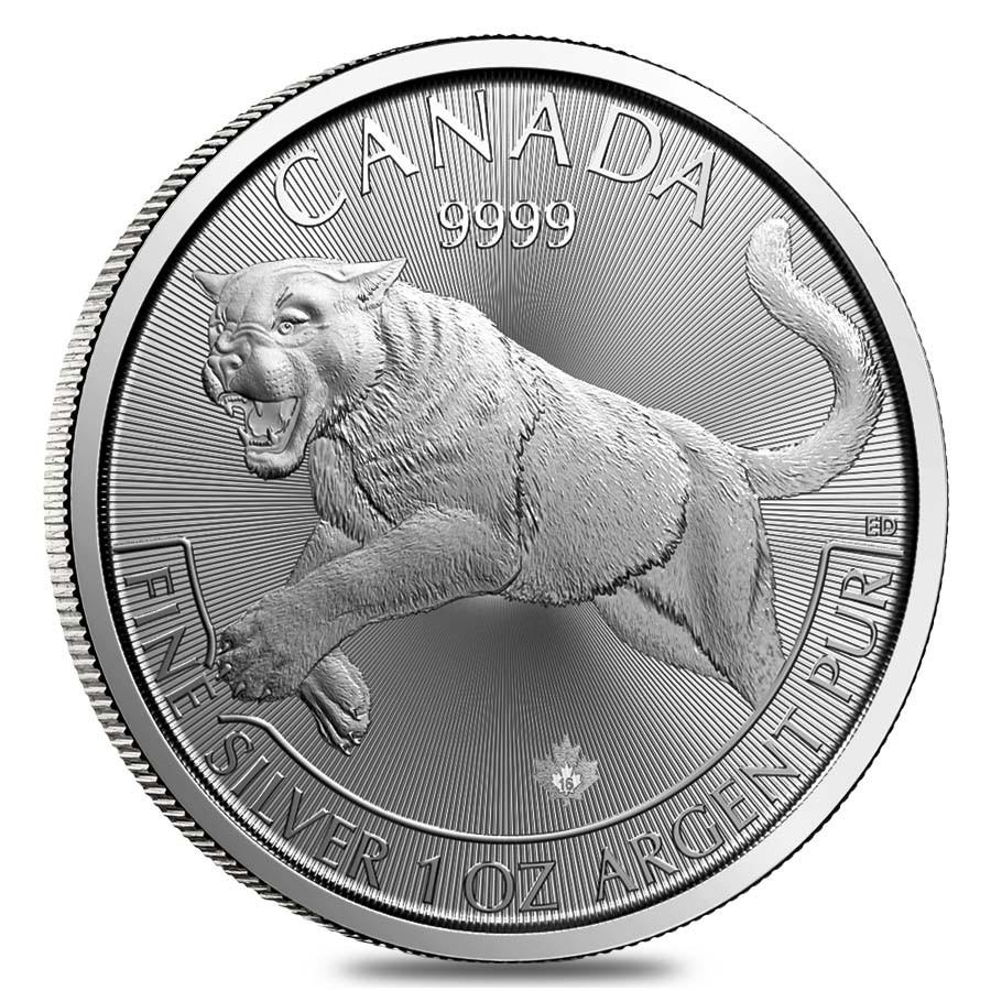 Predator Series (coin 1) – 1 oz Silver Cougar BU (2016) – Waiting List