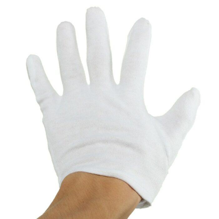 Large White Cotton Gloves
