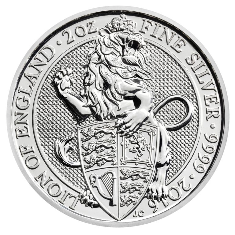 2 oz Great Britain Silver Queen's Beasts - The Lion (Coin 1 of 10)