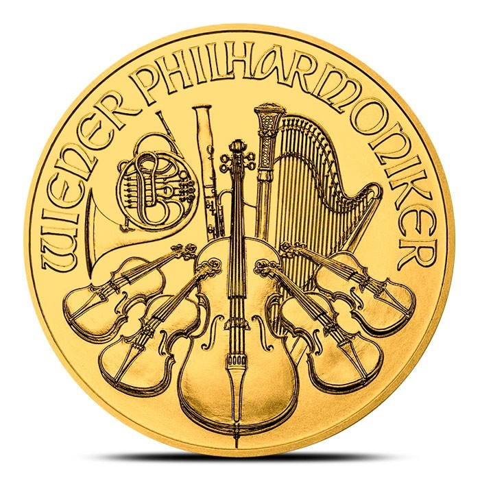 1 oz Austrian Gold Philharmonic BU – Sold Out