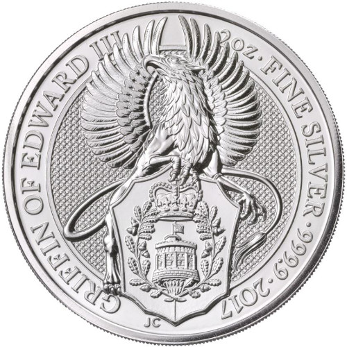 2 oz Great Britain Silver Queen's Beasts – The Griffin (Coin 2 of 10) Last 2 in stock