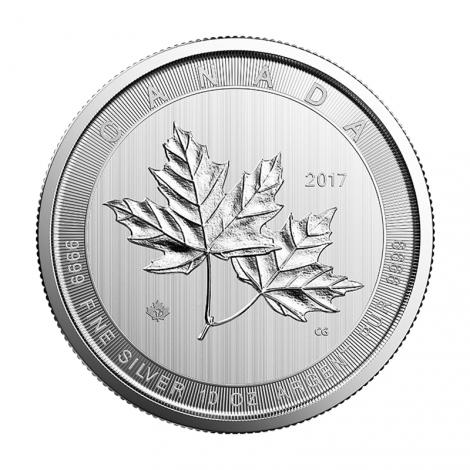 2018 Canada 10 Oz Magnificent Maple Leaves Silver Sphere