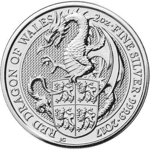 2 oz Great Britain Silver Queen's Beasts - The Dragon