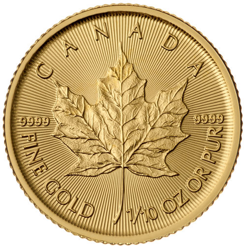 1/10 oz Canadian Gold