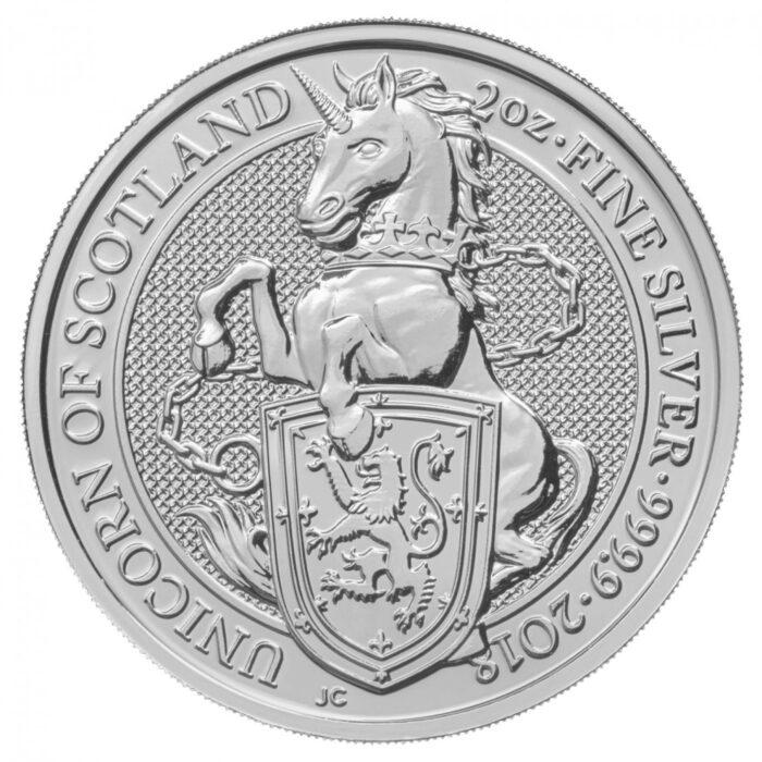2 oz GB Queen's Beasts The Unicorn