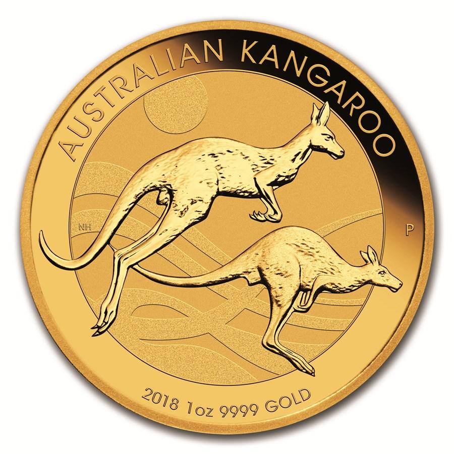 1 oz Australian Gold Kangaroo BU 2018 – Coming Soon