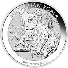 1 oz Australian Silver Koala BU (2018)
