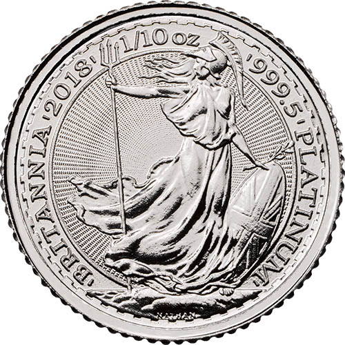 PLATINUM 1/10 oz British Britannia BU (2018)