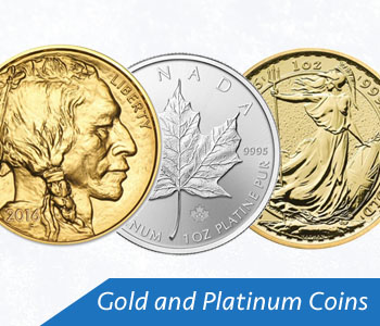 gold platinum coins
