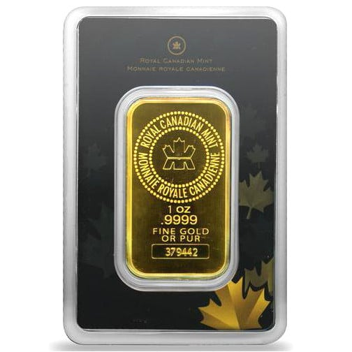 1 oz Royal Canadian Mint Gold Bar (In Assay)