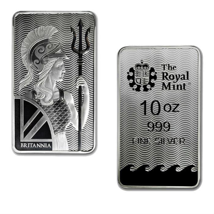 10 oz Royal British Mint Silver Bar