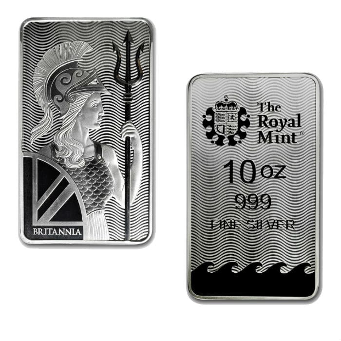 10 Oz Royal British Mint Silver Bar The Britannia Sold Out