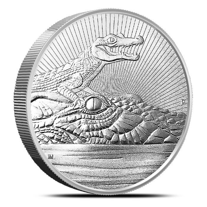 Australian Silver 2 oz Crocodile Next Generation Series