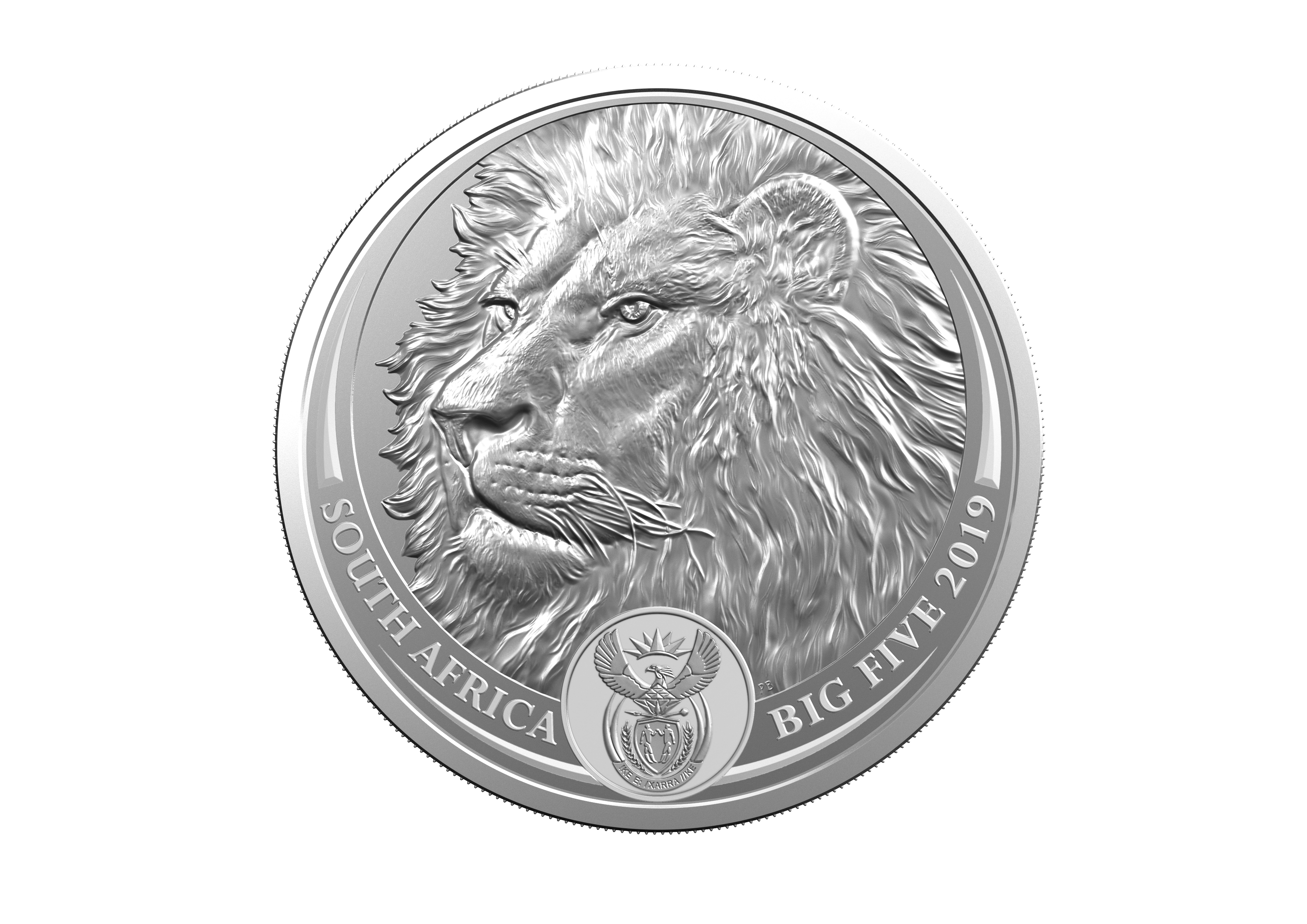 2019 Big 5 Lion Bu 1 Oz Silver Coin Ag 999 Coin 2 Of 5