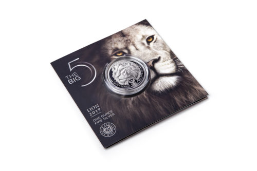 2019 BIG 5 LION BU 1 OZ SILVER COIN