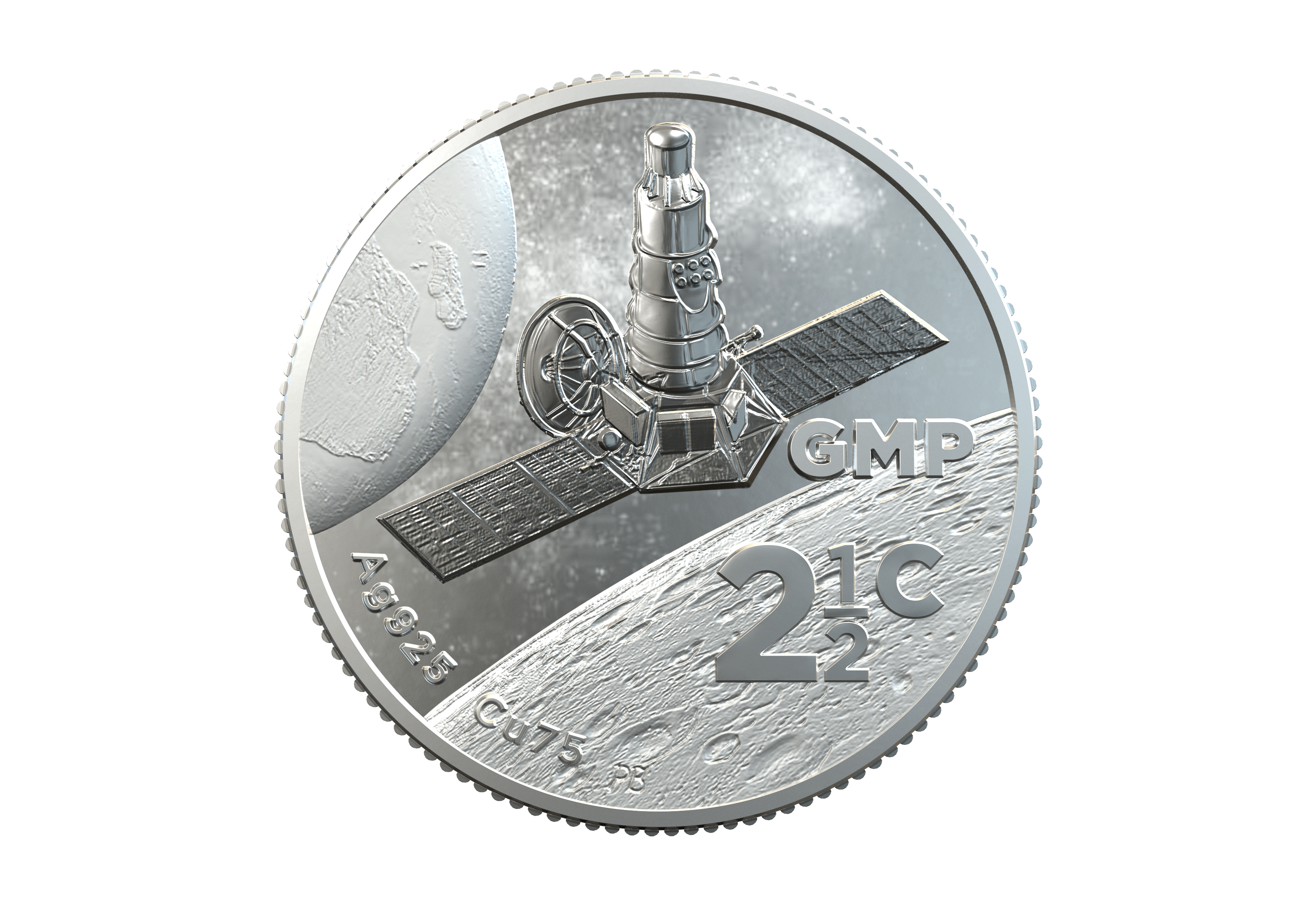 South African Inventions: Polymer Putty (Moon Landing) – 2 1/2c Tickey, sterling silver 2019