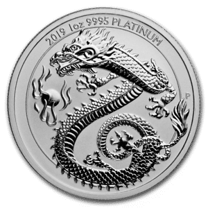 1 oz Australian Platinum Dragon 2019