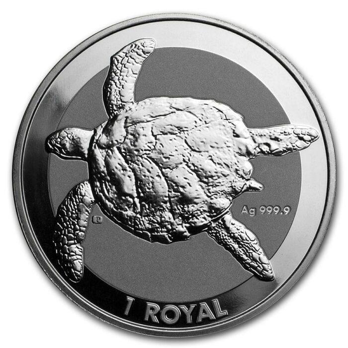 British Indian Ocean 1 oz Silver Sea Turtle