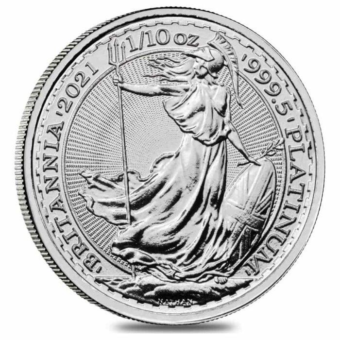 PLATINUM 1/10 oz British Britannia