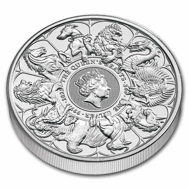 2021 Great Britain 2 oz Silver Queen's Beasts Collector Coin
