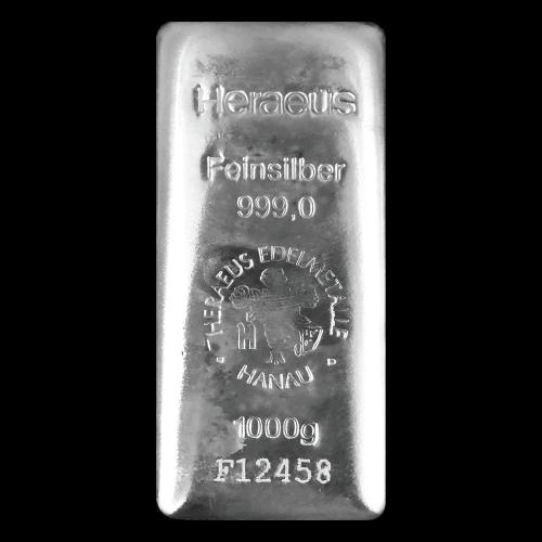 Heraeus Silver Poured Bar